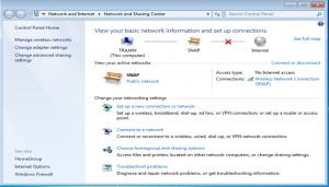 نحوه اتصال به اینترنت در ویندوز سون